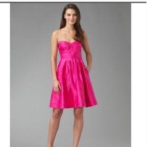 Diane Von Furstenberg Pink Silk Strapless dress